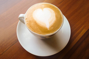 Cappuccino mit Herz